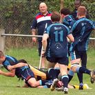 Peter Bicknell scores for Eton Manor on Saturday but it was not enough for victory