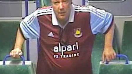British Transport Police are searching for this man after an incident on a train in Shenfield statio