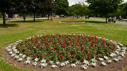 This picture was taken in Valentines Park, Ilford yesterday.The park looked beautiful