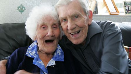 Dorothy and Samuel Robinson both aged 91 are celebrating their 70th wedding anniversary