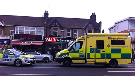 The incident happened in High Road, Ilford this morning