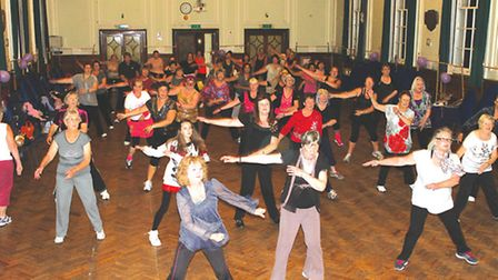 A Strictly Come Dancing Inspired exercise party raised almost £500 for Help For Heroes.