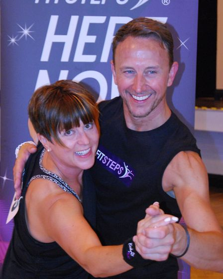 Instructor Karen Smith with former Strictly Come Dancing professional Ian Waite.