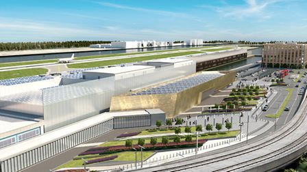 An artist's impression of what an expanded London City Airport would look like once it has expanded