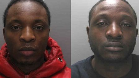 Brothers Bruno (left) and Regan Mambo, from Barking, have been jailed for a spate of mobile phone th