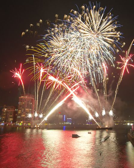 The colourful finale to the Waterfront Festival Picture: Andrew Baker