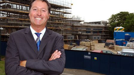 Mark Mahoney in 2007 before the opening of Winston Way Primary School.