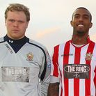 Joe Woolley (L) and Reiss Noel both left AFC Hornchurch in July to move to Australia. Pic: Gavin Ell