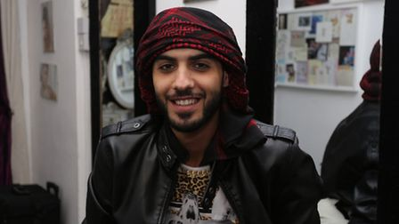 Omar Borkan Al Gala, the model identified as one of three men deported from Saudi Arabia for being t