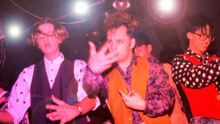 Clubbers on the podiums/main dancefloor at the Hacienda, Manchester 1988. (Photo by: PYMCA/UIG via G