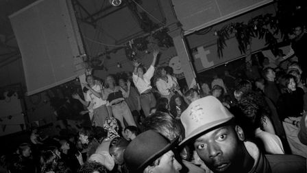 Clubbers dance on the podiums at the HOT night in the Hacienda, Manchester 1988. (Photo by: PYMCA/UI