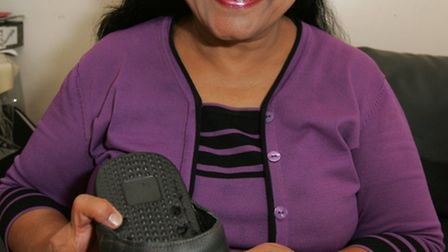 Shahmaz Rizwan has invented a pair of bunion-busting slippers