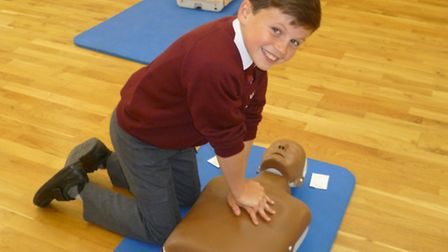 The youngsters learnt life-saving skills