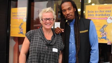 Artist director of the Paralympic Games 2012 Jenny Sealey and Benjamin Zephaniah at The Discover Chi