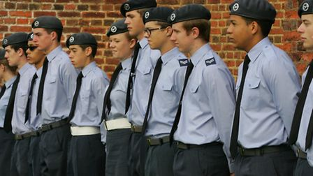 Air cadets at the service in All Saints church