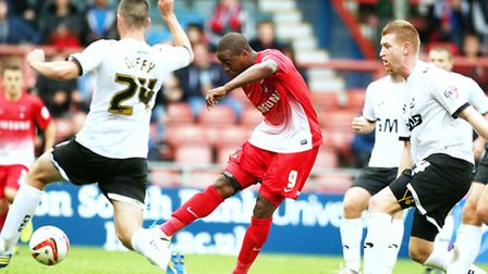 Kevin Lisbie was in the goals against Notts County (Simon O'Connor/TGS)