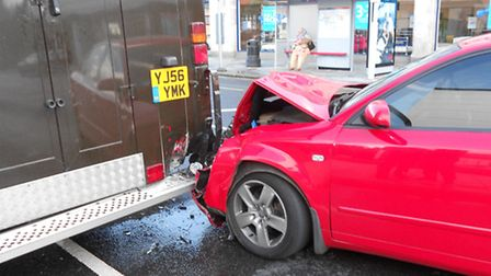 The collision happened in High Road, Seven Kings.
