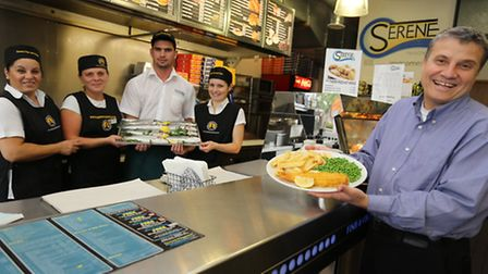 Serene Fish & Chips has been shortlisted for London and south east award. Owner Mustafa Redif hol