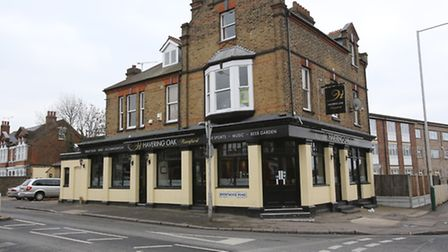 The Havering Oak pub: Boggans and Mr McDermott crossed paths outside while waiting for a cab