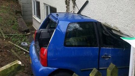 A woman crashed her car into a house in Darenth
