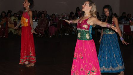 Dancing performances were held throughout the night