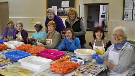 St Peter's Church pickle group peeled more than 50 kilos of onions