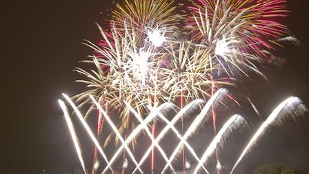 More than 30,000 people enjoyed the fireworks display in Wanstead Flats last night Picture: Andrew B