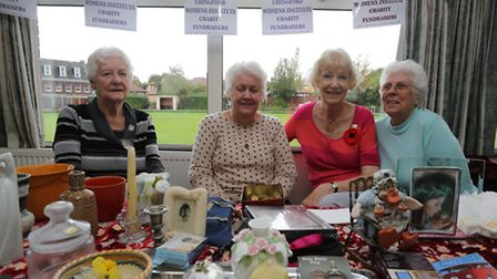 The Chingford WI on their stall raising money for Joseph Clark School. Marie Sainsbury, Isabelle Ess