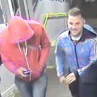 British Transport Police want to speak to these men after a robbery on a train from Romford to Upmin