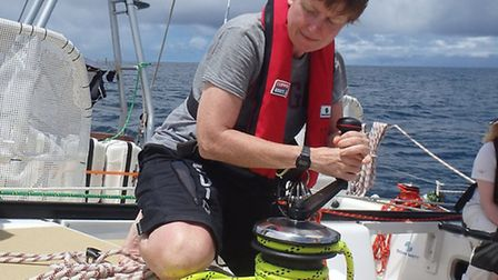 Susie Redhouse will spend almost a year at sea having set sail from London last month
