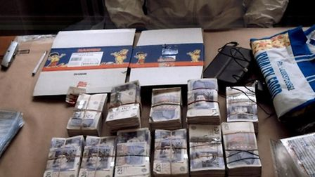 Part of the haul discovered by police