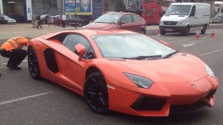 Lamborghini seized by police in Newham