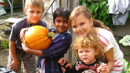 Children at last year's Spooky Apple Day in Newham City Farm