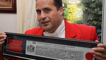 Jonathan has been awarded the Freedom of the City of London