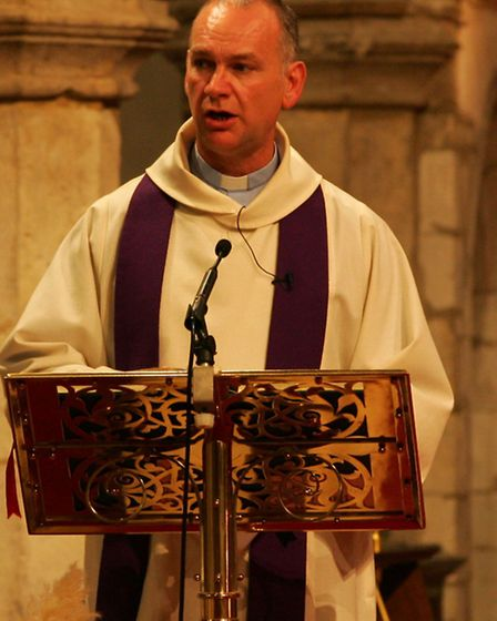 Rev Barry Hobson led prayers for those who died in the Greek waters