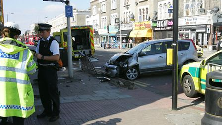 The accident happened in High Road, Goodmayes, on August 27.