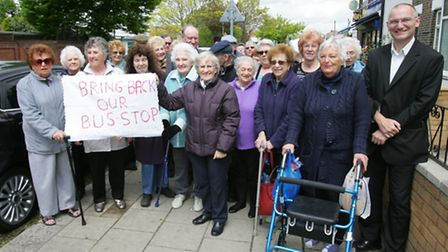 Pensioners from Rosewood Court and Cunningham Close demanded the bus stop be reinstated at West View