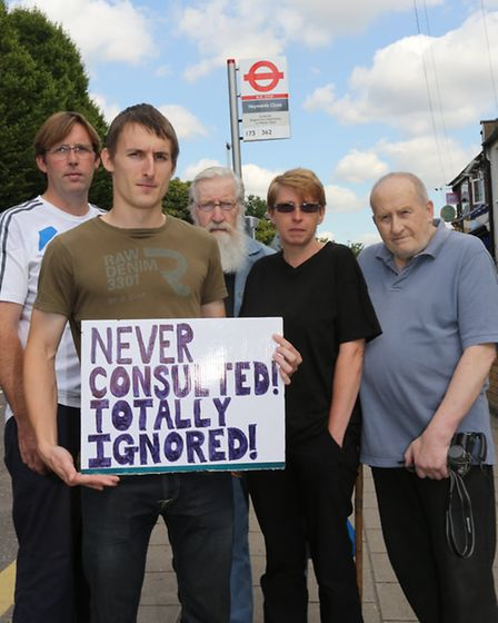 Residents in West View Cottages started a petition against a bus stop installed outside their homes.