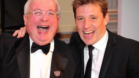 Auctioneer Christopher Biggins & Host Ben Shephard enjoying a giggle at the Haven House event