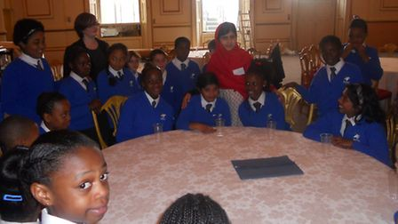 The choir from St Winefride's met with Malala