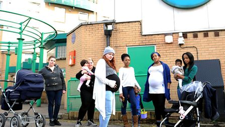 Woman and childfren who face possible eviction from Focus E15 Hostel