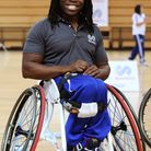 Former Paralympic wheelchair basketball player Ade Adepitan MBE at the Copper Box.