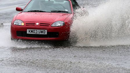Storms are expected to batter the area on Sunday night and Monday morning. Picture: PA/ Andrew Milli