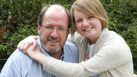 """Grace with her dad Peter, who says he has lost his """"mate""""."""