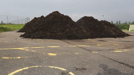 The compost dumped at the Broxhill Centre in Noak Hill Road