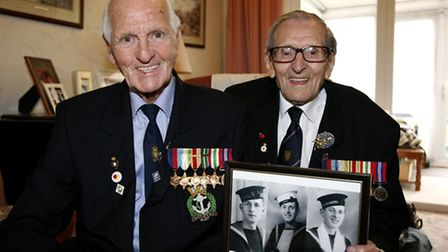Brothers Len (left) and Bill Churchill served together in the Navy in the Second World War. Photo: S
