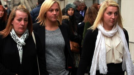 (Left to right) Lee Rigby's mother Lyn Rigby, sister Sara McClure and fiancee Aimee West at the Old