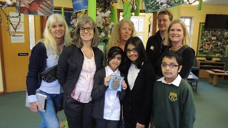 The Danish teachers visited Highlands Primary School to learn about their Unicef award