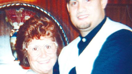 Christopher Lombard with his mother Thelma