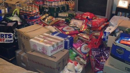 Food and other items donated by Newham residents have filled two rooms